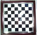 black & whitened erable(bird's eye maple) chess board