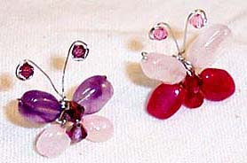 Fashion jewelry of china importer supply gemstone butterfly studs earring