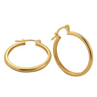 Wholesale gold earring supply simple loop gold earrings