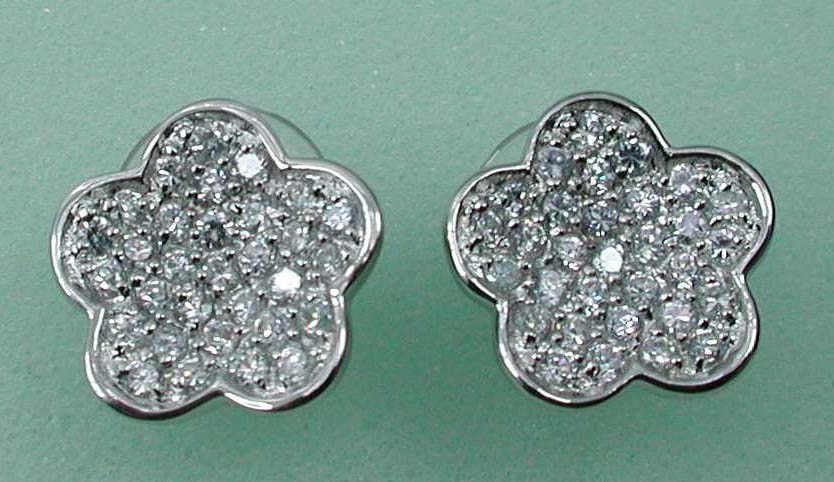 Accessories jewelry gifts supply flower studs earring with multi clear cz