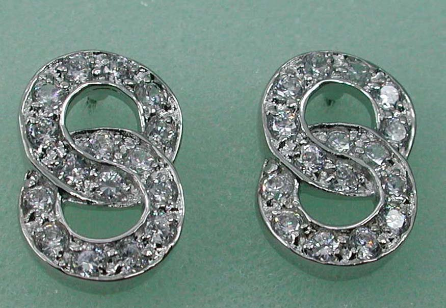 Anniversary diamond gifts import export supply double O studs earring