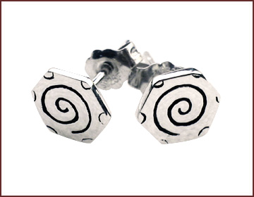 wholesale silver jewelry catalog supply spirals studs earring