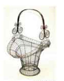 Designer gifts store online supply basket shape flower-pot holder