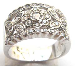 Costume wedding jewelry supply filigree wedding wide band ring