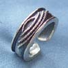 Black sterling silver ring manufacturer from China wholesale line pattern ring