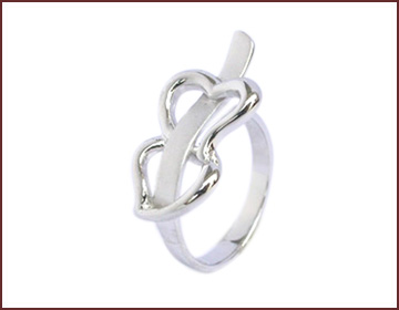 Jewelry for lover wholesale double heart ring