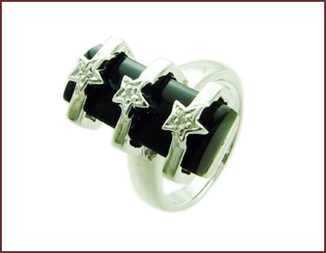 Gemstone jewelry store online supply black onyx quality ring