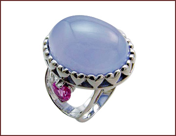 Online gift supply wholesale gemstone jewelry with heart claw design