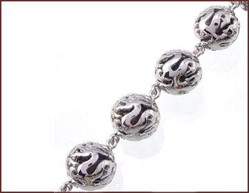 Wholesale fashion jewelry supply bali beaded jewelry ball shape forming a bracelet