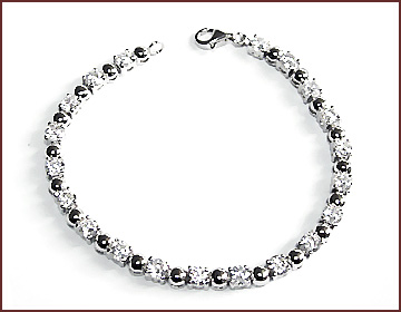China export jewelry wholesaler supply clear cz silver bracelet