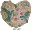 Definding China import export online supply heart shape garden decoration