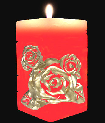 Christmas gifts supply wholesale rose pattern candle
