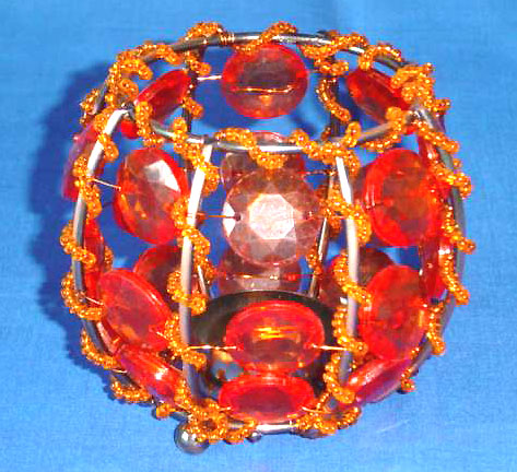 Beaded home decoration online supply orange bead candle holder